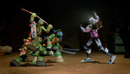 Baxter Stockman Versus Leonardo Donatello And Raphael