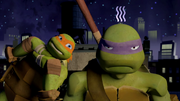Mikey teasing Donnie
