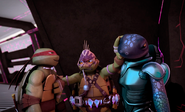 Savage Mikey Seperating Mona And Raph