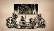 1987 Donatello And Donatello Surrounded By Mirage Turtles