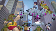 Krang And Kraang SubPrime Versus 1987 Turtles And Ninja Turtles