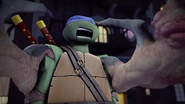 Leonardo Being Crushed By Super Shredder
