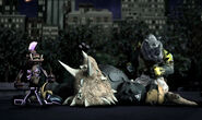 Bebop And Rocksteady Defeat Triceraton