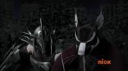 Splinter Blocked Shredder's Attack 1