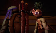 Donatello With Pineapple Head