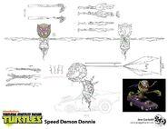 Speed Demon Donnie Concept Art By Jose Garibaldi