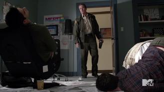 Teen Wolf Season 3 Episode 2 Tyler Posey Dylan O'Brien Linden Ashby Scott McCall Stiles and Sheriff Stilinski