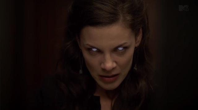 File:Teen Wolf Season 3 Episode 10 The Overlooked Haley Webb Jennifer's Darach eyes.png
