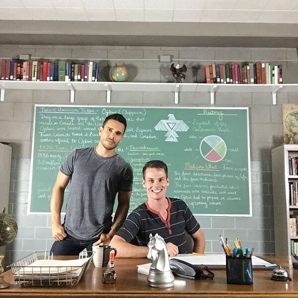 Teen Wolf Season 5 Behind the Scenes Daniel Flores Jason King classroom 093015