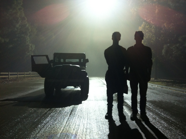 File:Teen Wolf Season 3 Behind the Scenes Stiles Jeep Woodley Park Night Shoot Silhouettes.png