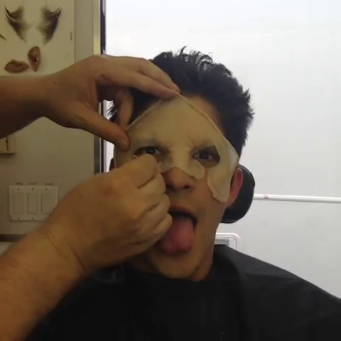 File:Teen Wolf Season 3 Behind the Scenes Tyler Posey Transformation prosthetic application.png