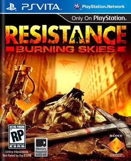 Resistance Burning Skies boxart