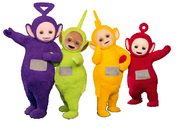 Teletubbies with legs