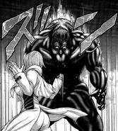Michelle punching a Terraformar