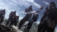 Toshio getting killed by a Terraformar