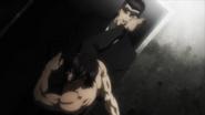 Akari kicking Shokichi in anger