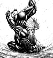Sylvester smashing the Terraformar on the ground.png