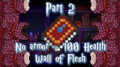 Terraria - Easy Wall of Flesh kill - No armor, 100 Health and Waterbolt Spell