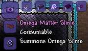 Summons Omega Slime