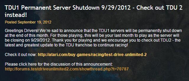 File:Test Drive Unlimited Server Shut-down.jpg