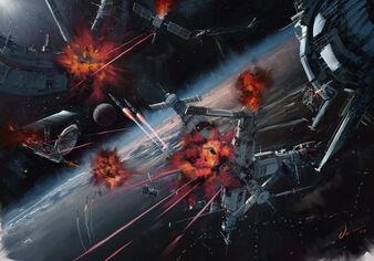 Ceti space battle