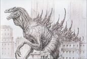 Godzilla 1998 concept art