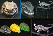 TRENDMASTERS Godzilla Micro Playset Hand Painted Toy Fair Showroom Sample RESIN Prototype