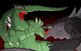 Big G vs GINO by GodzillaSamurai