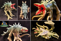 TRENDMASTERS Unreleased Animated Godzilla the Series DARK GREEN C-Rex Prototype