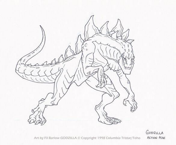 File:Godzilla action pose by filbarlow-d5bum4e.jpg