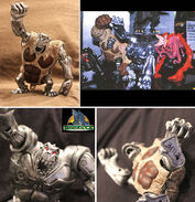 TRENDMASTERS Unreleased Animated Godzilla the Series Yeti 'Brown' (VARIANT) Prototype Re-Paint