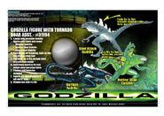 The TRENDMASTERS Presentation (Artwork) Board of the Godzilla Nuclear Glow, Steel Attack & Mayhem Unreleased Godzilla 2nd Series of Prototypes