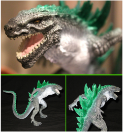 Trendmasters Animated Godzilla The Series Unreleased Collection of Figures and Prototypes and Collectibles58..