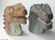 Godzilla Hand Puppets Pair TOHO 1998 Movie PLASTIC Japan Movie Characters