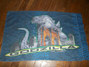 Vintage 1998 GODZILLA Twin Bed SET Sheet Fitted Pillowcase 90's Bedding4