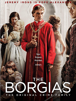 File:001 Season one promo photo of Gioffre Borgia, Cesare Borgia, Lucrezia Borgia, Rodrigo Borgia, Giulia Farnese and Juan Borgia 250px.png