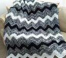 A crocheted afghan
