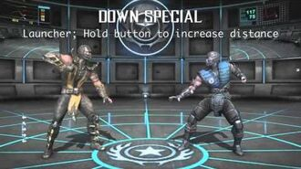 Scorpion's moveset for The Crossover Game Super Smash Bros