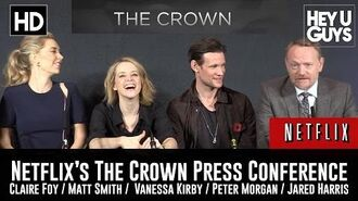Netflix's The Crown Press Conference in Full - Matt Smtih Claire Foy
