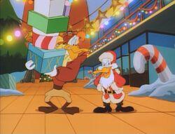 Darkwing disguised as Santa