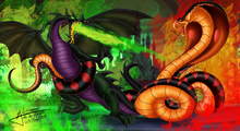 Dragon Maleficent vs. Snake Jafar