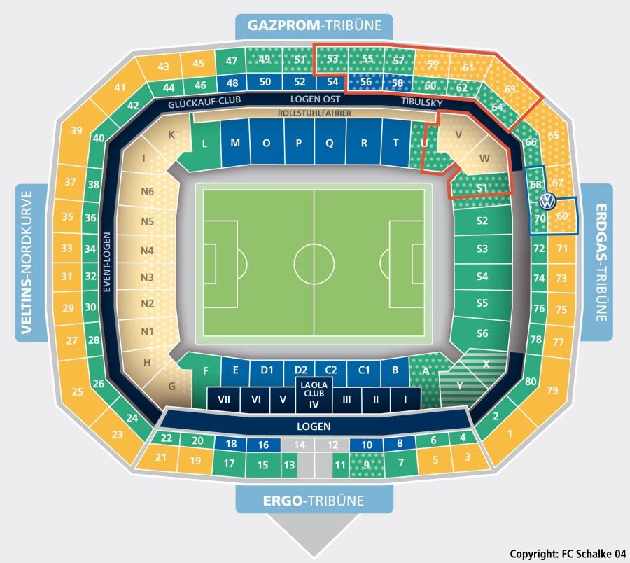Schalke Arena Plan