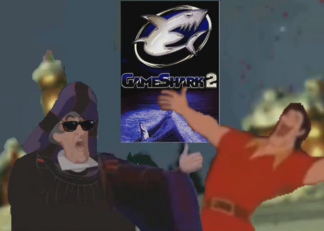 File:Frollo and Gaston Bros Pose with Gameshark.png