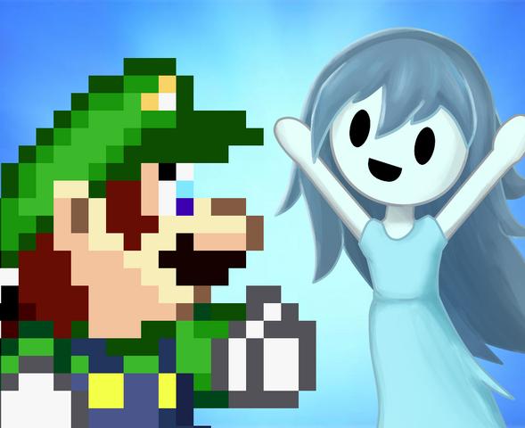 File:Luigi + spooky brosista.png