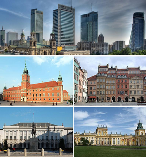 Collage of views of Warsaw 1