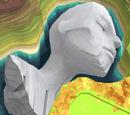 Buried Statue Head