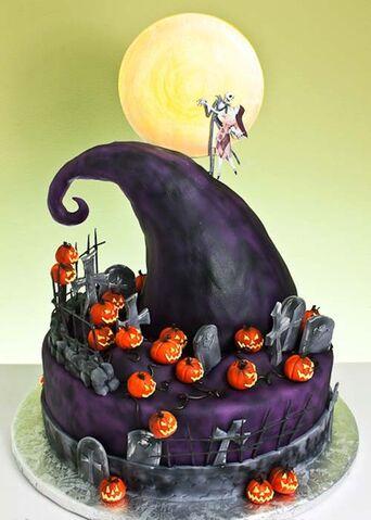 File:Nightmare Before Christmas cake.jpg