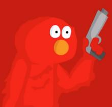 Elmo got a gun