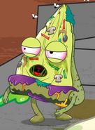 Sick pizza face