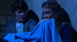 Fabian gives Nina blanket